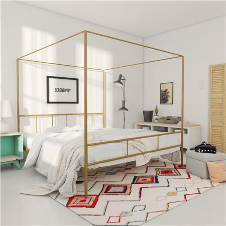 Marion Canopy Bed, Gold - King (#2077)