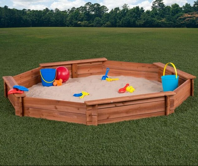 6.5' Octagon Sandbox with Cover (#906)