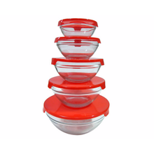 Load image into Gallery viewer, Wayfair Basics 5 Container Food Storage Set, Red (#K2437)