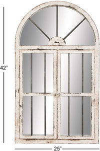 Faux Window Wood Wall Mirror (#K2324)