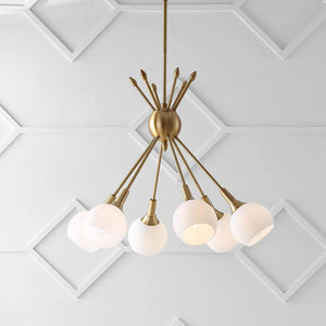 Justine  6-Light Adjustable Pendant, Brass Gold (#K2574)