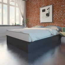 Load image into Gallery viewer, King Size Platform bed, Grey Linen  #CR2102