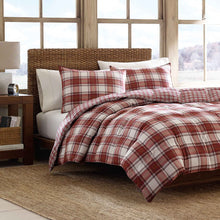 Load image into Gallery viewer, Eddie Bauer Down Comforter Set, Full/Queen, Red. Dr101