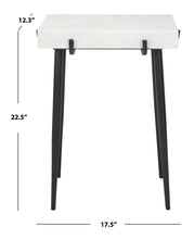 Load image into Gallery viewer, Yuki Stone Top Accent Table, Black (#K2606)