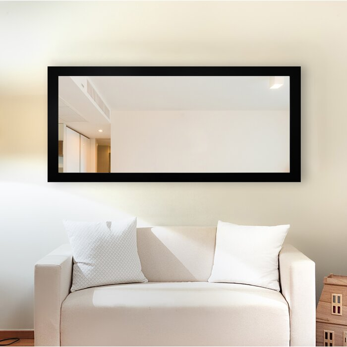 American Made Accent Wall Mirror, Black Satin - 31