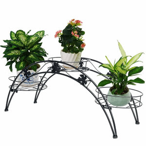 Black Arch Metal Potted Plant Stand #LX434