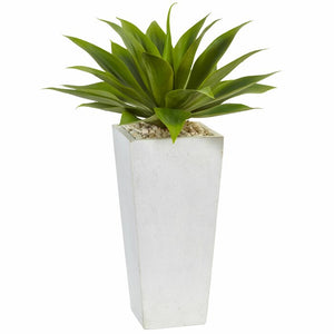 Set of 2 - Artificial Succulent Floor Foilage Plant in Planter (#797)
