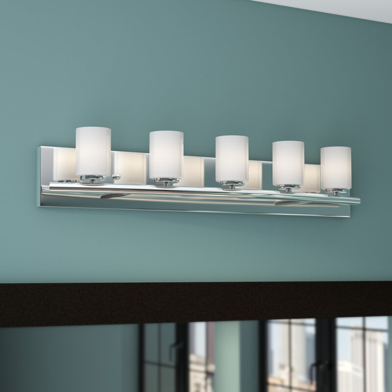 Ayesha 5-Light Vanity Light, Chrome #HA112
