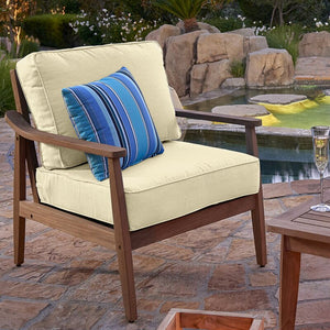 Outdoor Sunbrella Seat/Back Cushion Natural  2208