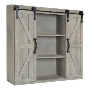 "Banbury 30"" x 27.3"" Wall Mounted Cabinet, Grey (#181)"