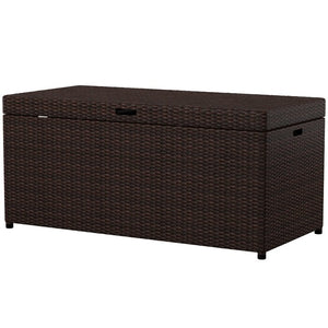 Brown Belton Wicker Deck Box #HA730