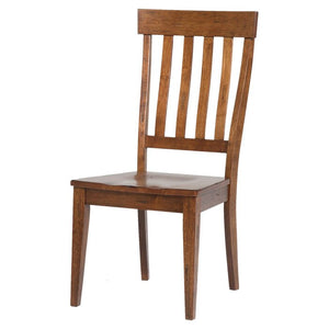 Benedetta Solid Wood Slat Back Side Chair (Set of 2) #HA499