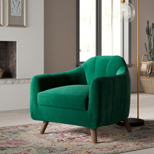 Load image into Gallery viewer, Boevange-sur-Attert Armchair, Stax Forest Green Polyester Blend  (#K6484)