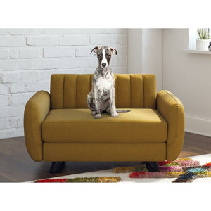 Brittany Pet Sofa, Mustard Yellow - Small/Medium (#747)