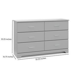 Brookside 6 Drawer Double Dresser K7675