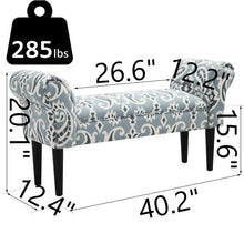 Load image into Gallery viewer, Burwell Vanity Arm Upholstered Bench (#K2136)