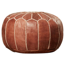 Load image into Gallery viewer, Carolos Leather Pouf 7057