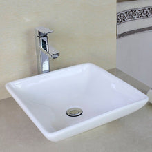 Load image into Gallery viewer, Ceramic Square Vessel Bathroom Sink (#K2411)
