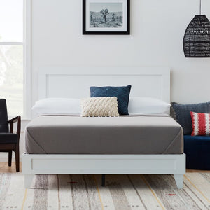 Full White Charge Classic Platform Bed (HA542)