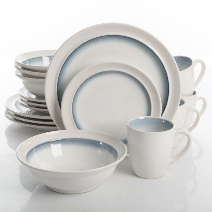 Teal Chauvin 16 Piece Dinnerware Set, Service for 4 #HA466