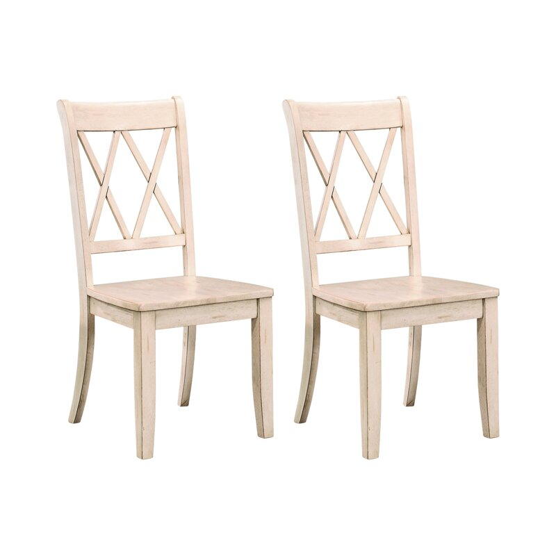 Set of 2 Cheryll Solid Wood White Dining Chair 2324