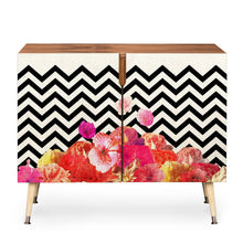Load image into Gallery viewer, Chevron Floral 2 Door Accent Cabinet EJ691
