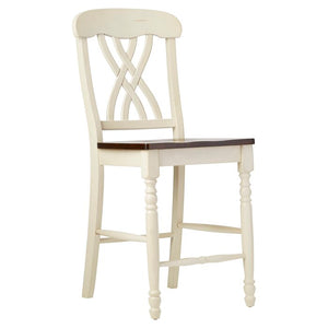"Set of 2 - Chipps 24"" Bar Stools, Antique White (#163)"