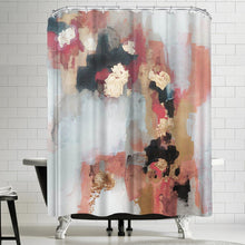 Load image into Gallery viewer, Blue/Brown Christine Olmstead Hot Sauce Single Shower Curtain TJ244