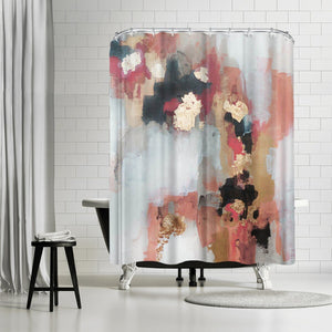 Blue/Brown Christine Olmstead Hot Sauce Single Shower Curtain TJ244