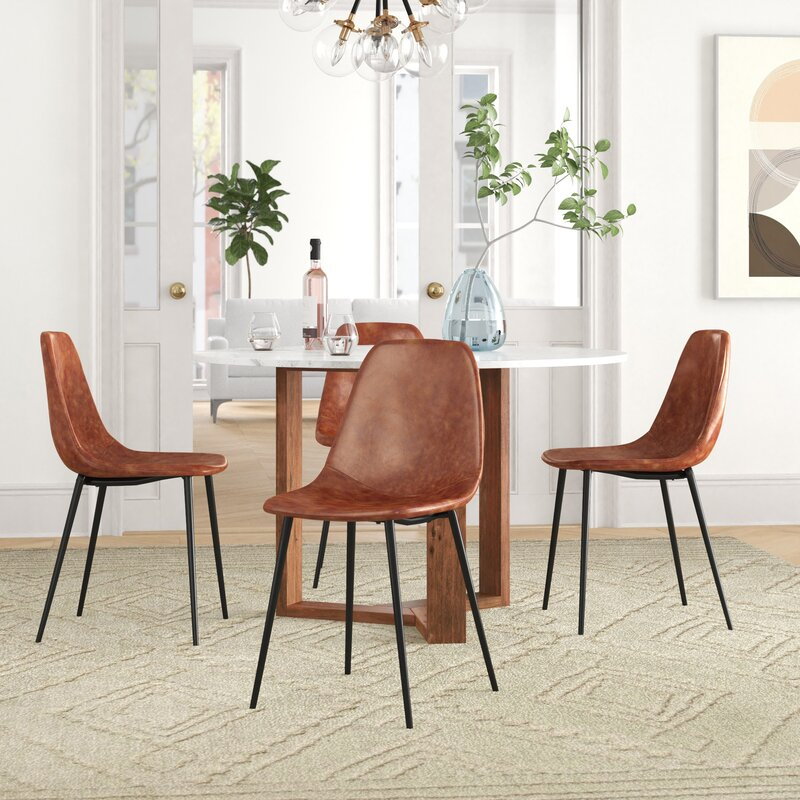 Set of 2 - Debord Upholstered Side Chairs, Honey (#K2203)