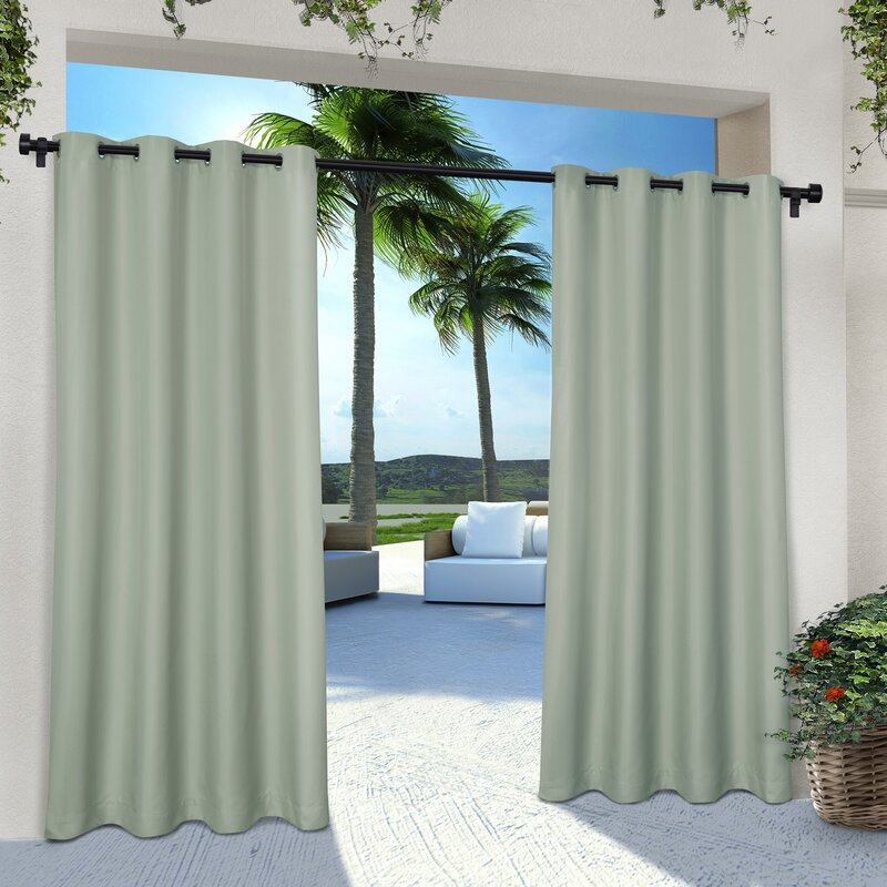 Denton Solid Room Darkening Grommet Curtain Panels (Set of 2) #CR1218