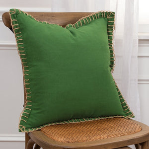 Set of 2 - Donner Cotton Throw Pillows, Green (#816)