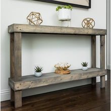 Load image into Gallery viewer, Gray Dunlap Solid Wood Console Table