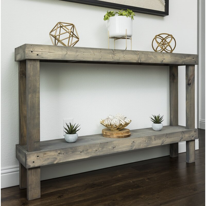 Gray Dunlap Solid Wood Console Table