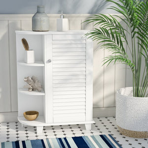 "Ellsworth 23.63"" x 31.1"" X 9.65"" Free-Standing Bathroom Cabinet, White (#931)"