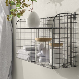 Elyse Vintage Wall Storage Organizer With Wall Baskets (#K2152)