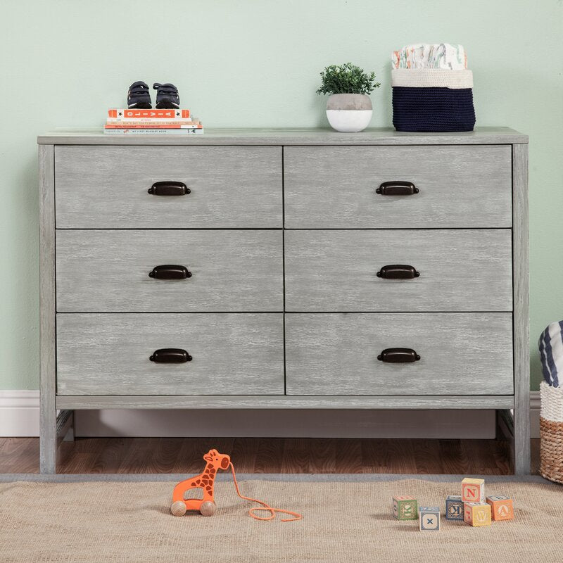 Fairway 6 Drawer Double Dresser, Cottage Gray (#K2502)