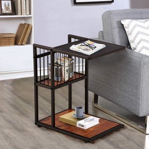Ferrin Glass Top End Table with Storage (#K2318)