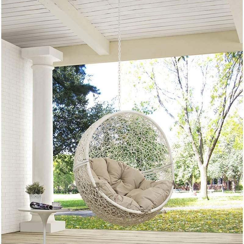 Bungalow Rose Wicker Porch Swing