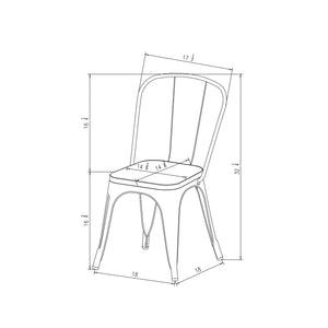 Carlisle High Back Dining Chair Dr212