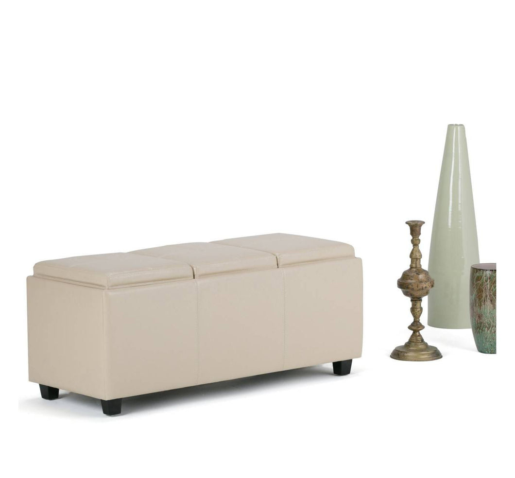 Franklin Storage Ottoman in Faux Leather 7337
