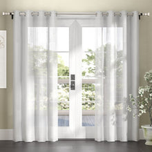 Load image into Gallery viewer, Gabbie Striped Sheer Grommet Curtain Panels (Set of 2) EE1140
