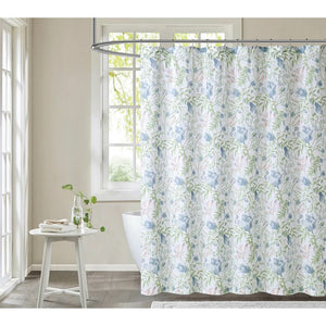 Haeryst 100% Cotton Floral Single Shower Curtain EE1139