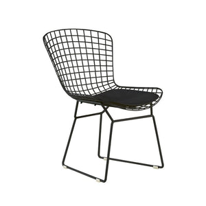 Set of 2 - Holly Wire Dining Chairs, Noir Black (#74)