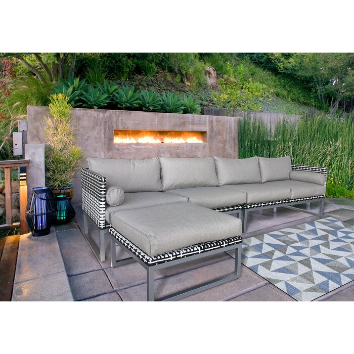 Honeycutt Patio Sofa with Cushions