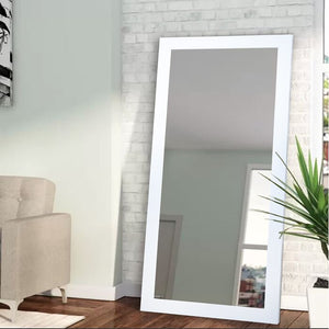"Industrial Full Length Mirror, White - 65"" x 30"" (#K2073)"