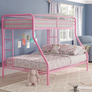 Jeanna Twin over Full Bunk Bed, Pink (#888)