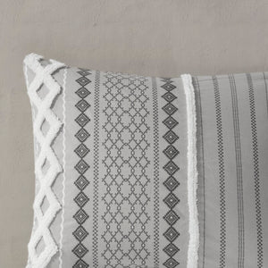 Duvet Cover + 2 Shams Gray Jenkinsburg Duvet Cover Set K7735