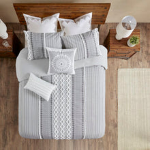 Load image into Gallery viewer, Duvet Cover + 2 Shams Gray Jenkinsburg Duvet Cover Set K7735