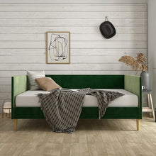 Load image into Gallery viewer, Jude Daybed, Green Velvet - Twin (#K2249)